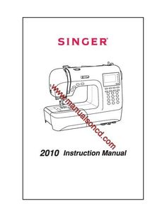 Service manual for Singer Creative Touch sewing machine
