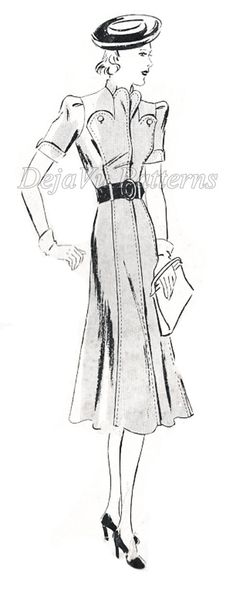 Butterick 8031 Vintage Dress Sewing Pattern by DejaVuPatterns