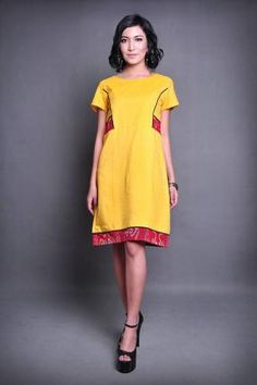 20210 Megersing tenun dress I Love Fashion, Fashion Ideas, Batik Dress, Office Ladies, Cheongsam, Office Fashion, Ikat, Asian Beauty, Sewing Ideas