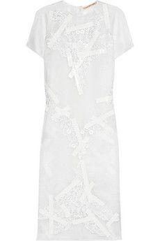 Christopher Kane Lace-appliquéd silk-organza dress