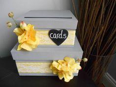 Boîte de carte de mariage personnalisée 2 par astylishdesign