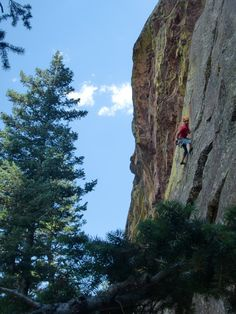 Eldorado Canyon, Climb: Young, Blond, and Easy 5.11b, At least he is one of those ;-)