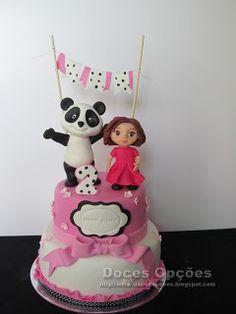 Doces Opções: O Panda no 2º aniversário da Diana Filipa Panda Cakes, Cake Toppers, Diana, Desserts, Animals, Sweets, Ideas, Home Made, Tailgate Desserts