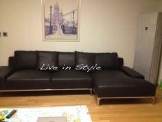 Madeira MAX9005 L shape Leather Sofa