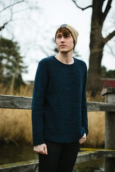 cute sweater mens outfit, and it's even fair fashion. Nudie Jeans, Fall Sweaters, Cute Sweaters, Sweater Outfits, Men Sweater, Spring Fashion, Autumn Fashion, European Fashion, European Style