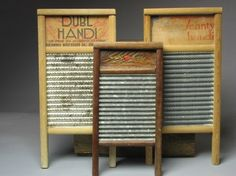 For some reason I love washboards.  I have atleast a dozen.  I wouldn't want to use one though!!