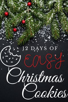 12 Days of Easy Christmas Cookies -- perfect Christmas cookie ideas for gifts or just enjoying at home. I have several no-bake recipes in the mix and these are easy for kids to help with! Simple Christmas, All Things Christmas, 12 Days, Winter Food, Christmas Cookies, Baking Recipes, Holiday Recipes, Christmas Decorations, Easy