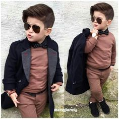 Kids Hairstyles and kids fashion 2017 Fashion Kids, Little Boy Fashion, Baby Boy Fashion, Toddler Fashion, Toddler Outfits, Baby Boy Outfits, Fashion 2020, Fashion Clothes, Outfits Niños