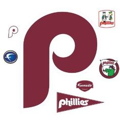 MLB Philadelphia Phillies Classic Logo Wall Decal amazon .com 75.21