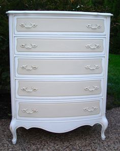 two tone dresser - like white and cream