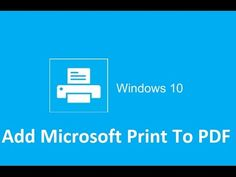 How to add Microsoft print to pdf to Windows 10. How to print to PDF in Windows 10. Windows 10 have the unprecedented ability — among Microsoft users, at least — to make use of a native print-to-PDF feature. To activate the feature, simply navigate to the Windows 10 Settings page and click on Devices. The ensuing window automatically opens the Printers & scanners menu, which shows each printer available for use by the Windows 10 user. Windows 10 Tutorials, Tech Hacks, Computer Tips, Printer Scanner, Mac Os, Printers, Microsoft, Organizing, Menu
