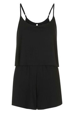 c0e0d5eb0fb68 Topshop Overlay Jersey Romper available at  Nordstrom Pleated Shorts