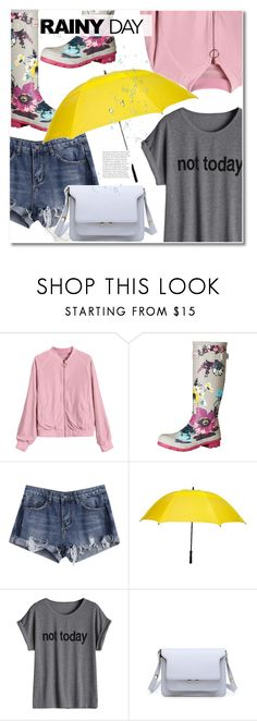 """Rainy Day Style"" by fshionme ❤ liked on Polyvore featuring Joules and Futai"