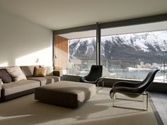 ":: INTERIORS :: Foster + Partners - ""Post Haus"" Restaurant and ""The Murezzan"" Housing Development St. Moritz 