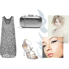 coctail dress grey by wooxmen on Polyvore featuring мода, Derek Lam, Jimmy Choo, MICHAEL Michael Kors and Alberta Ferretti