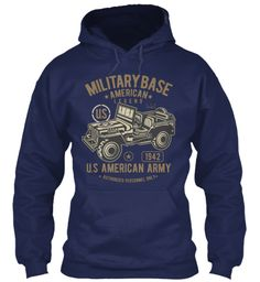 Army T Shirts For Men And Women! Navy Sweatshirt Front