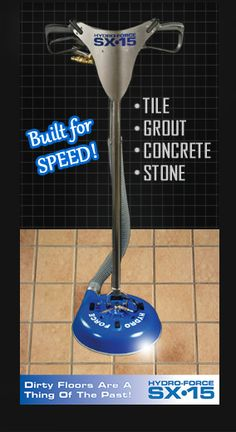 Hydro Force SX-15 Tile & Grout, Concrete, Stone Cleaning Tool