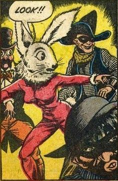 """Look"" the rabbit headed monstrosity cried to divert attention from her own issues."