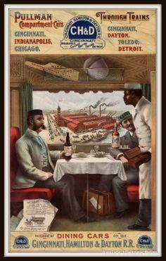 Pullman Car Railroad 1910s Vintage Travel by RosiesVintagePrints, $18.00