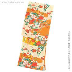 2016 浴衣福袋「夏色美人」kimonomachiオリジナル 変わり織り綿浴衣 19:オレンジ 夢古典 - 京都きもの町 -