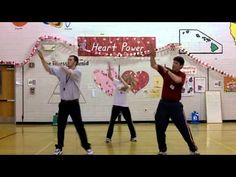 Great dances and ideas on YouTube for a National PE TOY.  He is awesome!