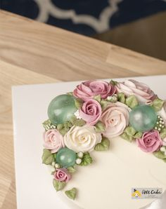 Buttercream Flower Cake by WeCake