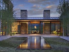 For sale: $18,000,000. Aspensong is Jackson Hole's most distinctive contemporary residence on 35 private acres in Crescent H Ranch. Designed to bring the outdoors in, every room is situated to best access the awe-inspiring views. Attention to detail and craftsmanship is well presented throughout. Floor-to-ceiling sliding glass walls open to an impressive valley panorama, ideal for wildlife viewing. The heart of the home, the central living space, connects two wings of the residence. The n...
