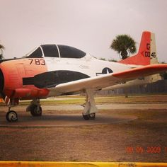 One of the old Navy trainer jets..I used to work for a Naval Training Squadron..this aircraft was parked in front of the Officers Club NAS Corpus Christi TX 2009