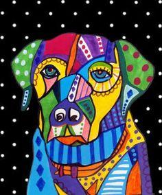 Heather Galler Dog Art: Labrador Retriever Dog Art