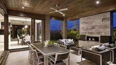 Diseño de terrraza de moderna casa