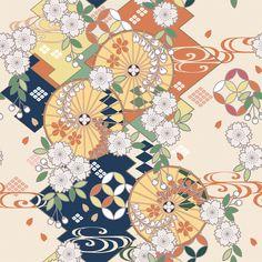 Japanese Textiles, Japanese Prints, Japanese Design, Chinese Patterns, Japanese Patterns, Japon Illustration, Pattern Illustration, Japanese Paper, Japanese Fabric