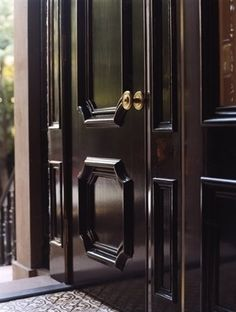Fairfax and Sammons black lacquer front door