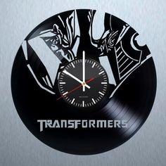 Transformers Handmade Vinyl Record Wall Clock Fan Gift - VINYL CLOCKS