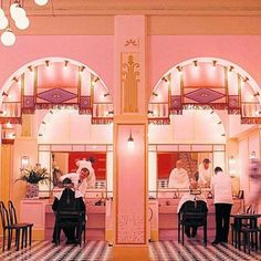 Vogue's pick of the best Wes Anderson interiors, including The Grand Budapest Hotel, The Royal Tenenbaums, The Darjeeling Limited, Fantastic Mr Fox and Moonrise Kingdom. Wes Anderson Style, Wes Anderson Movies, West Anderson, Architecture Restaurant, Interior Architecture, Grand Hotel Budapest, Grand Budapest Hotel Film, Interior Inspiration, Design Inspiration