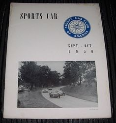 FREE US Shipping SEPT OCT 1950 SPORTS CAR Magazine SCCA HARD to FIND Rare Issue