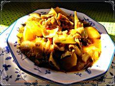 Mi pequeño rincon: Costillas con patatas y alcachofas