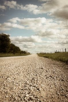 A gravel road in Kansas, my favorite place to be!