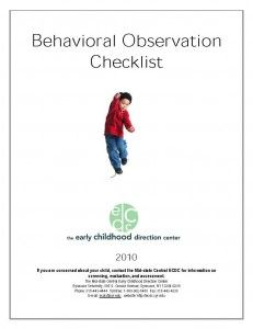Play Observation Checklist Printable for Child Care - Observations ...