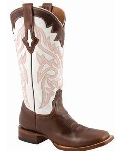 Lucchese Women's Resistol Ranch White with Natural Oil Calf Brown Leather Cowgirl Boots 9 M Cute Cowgirl Boots, Womens Cowgirl Boots, Cowgirl Style, Western Boots, Western Wear, Rodeo Boots, Western Tack, Calf Boots, Shoe Boots