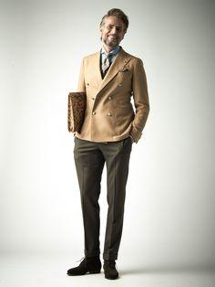 Dress Style Vol.013   DRESS   STYLING   B.R.ONLINE Suit Fashion, Mens Fashion, Classy Fashion, Brown Suits, La Mode Masculine, Dapper Men, Men Looks, Winter Wear, Jacket Style
