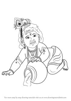 how to draw baby lord krishna step by step learn drawing by this tutorial for