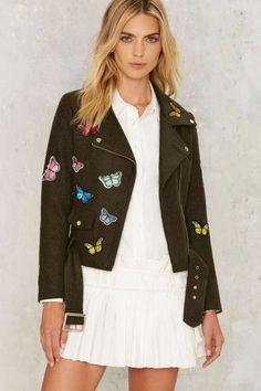 Butterfly Effect Wool Moto Jacket