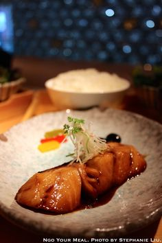 Braised Black Cod with Ginger-Soy Reduction at Morimoto