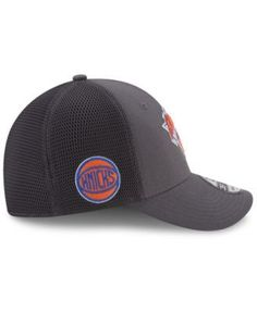 New Era New York Knicks On Court Graph 39THIRTY Cap - Gray M/L