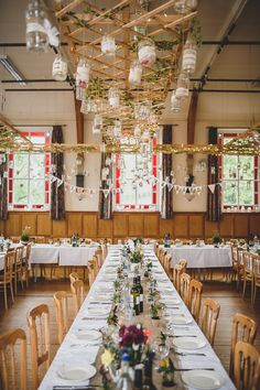 Eclectic colourful quirky homemade village hall wedding hall magical candlelit crafty outdoorsy village hall wedding junglespirit Images