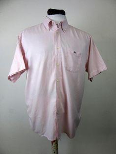 Lacoste Pink Short Sleeved Shirt Vintage Pink Size XXL