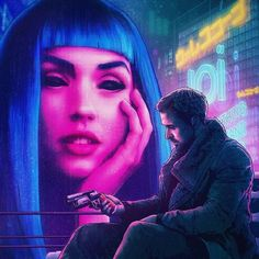 Blade Runner 2049 alternative movie poster Prints available here Returning with a bang! I'd like to do more illustrated posters along with the regular ones I've been doing. Cyberpunk 2077, Cyberpunk Girl, Arte Cyberpunk, Blade Runner Art, Blade Runner 2049, New Retro Wave, Retro Waves, Denis Villeneuve, Neon Noir