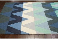 5'x8' Adele Rug, Blue--surprised I like this, but I do!