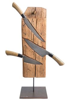 Messerblock mit Messern aus Damaststahl Knife block with knives made of damascus steel Image Size: 564 x 846 Source Wood Projects, Woodworking Projects, Woodworking Plans, Design Projects, Dremel Projects, Popular Woodworking, Damascus Steel, Damascus Knife, Knife Making