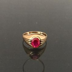 Vintage 1960s 10K Solid Yellow Gold 1.21ct by wandajewelry2013